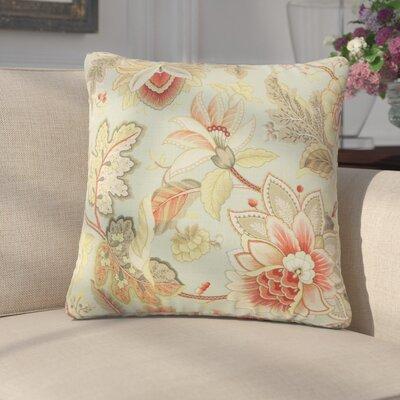 Garvyn Floral Linen Throw Pillow