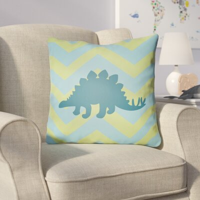 Colinda Dinosaur Throw Pillow Size: 20 H x 20 W x 4 D, Color: Lime/Blue