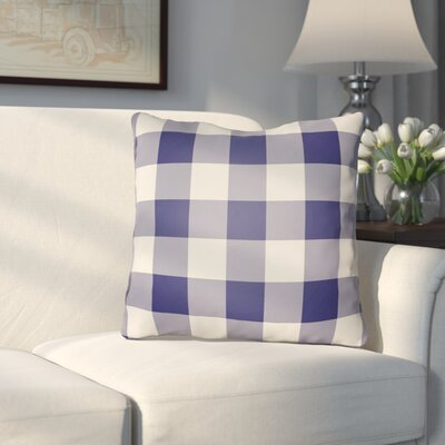 Travers Indoor Outdoor Throw Pillow Size: 20 H x 20 W x 4 D, Color: Blue/Neutral