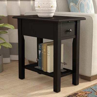 Lundgren End Table With Storage� Color: Black