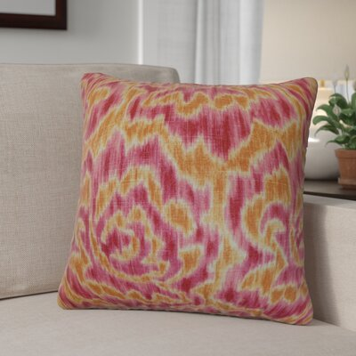 Arsenault Throw Pillow Color: Mango, Size: 18 x 18