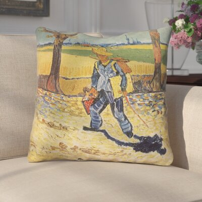 Zamora Self Portrait Square Zipper Indoor Throw Pillow Size: 16 x 16