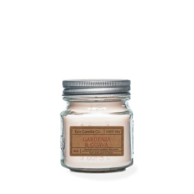 Gardenia and Guava Scented Jar Candle 8GAR