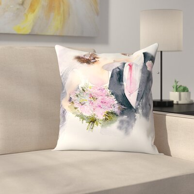 Weddin Kiss Throw Pillow Size: 18 x 18