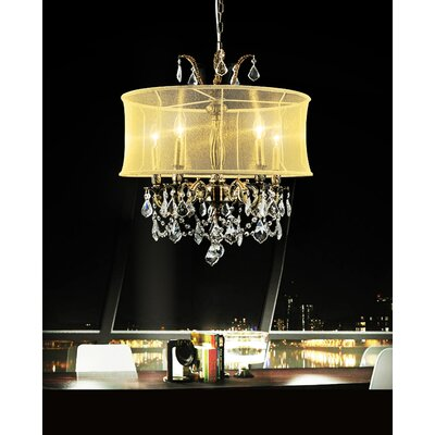 Halo 5-Light Candle-Style Chandelier Shade Color: Gold