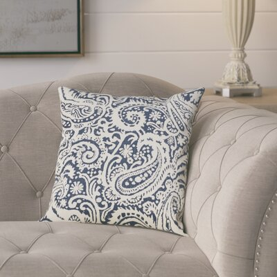 Francisca Linen Throw Pillow Color: Indigo, Size: 18x18