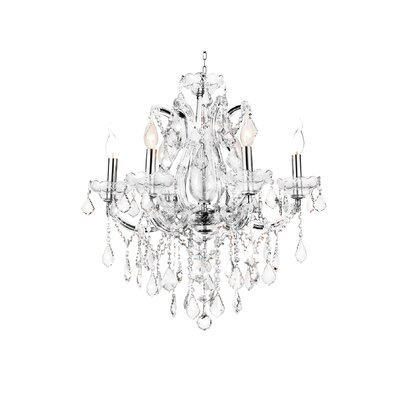 Maria Theresa 6-Light Candle-Style Chandelier Crystal Color: Clear
