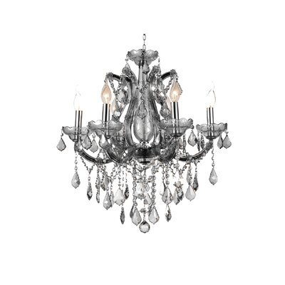 Maria Theresa 6-Light Candle-Style Chandelier Crystal Color: Smoke