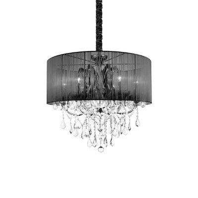 Maria Theresa 6-Light Drum Chandelier Shade Color: Black