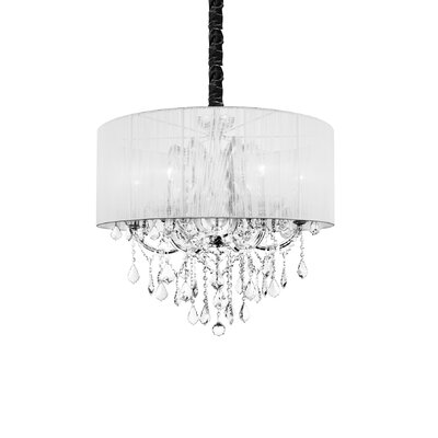 Maria Theresa 6-Light Drum Chandelier Shade Color: White