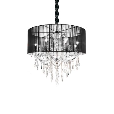 Maria Theresa 12-Light Drum Chandelier Shade Color: Black