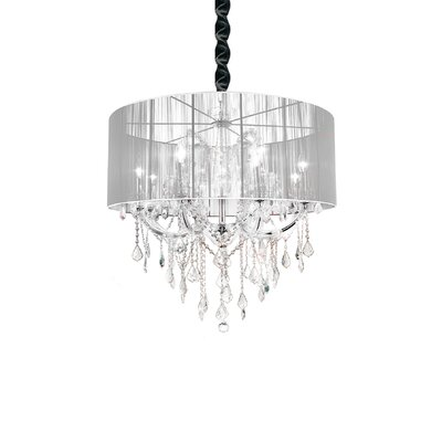 Maria Theresa 12-Light Drum Chandelier Shade Color: White