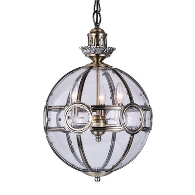 Beas 3-Light Candle-Style Chandelier Size: 21 H x 14 W x 14 D