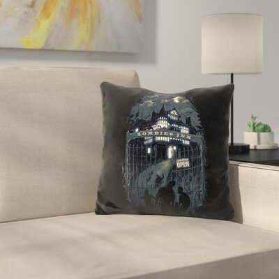 Zombies Inn Throw Pillow