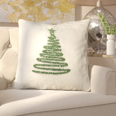 Briggsvale Enchanted Evergreen Throw Pillow Color: Gray/Green