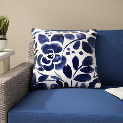 Crystal Walen Floral Painting Outdoor Throw Pillow Size: 18 H x 18 W x 5 D