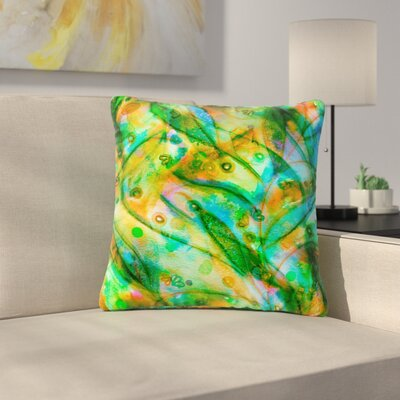 Ebi Emporium Floral Outdoor Throw Pillow Size: 18 H x 18 W x 5 D, Color: Green