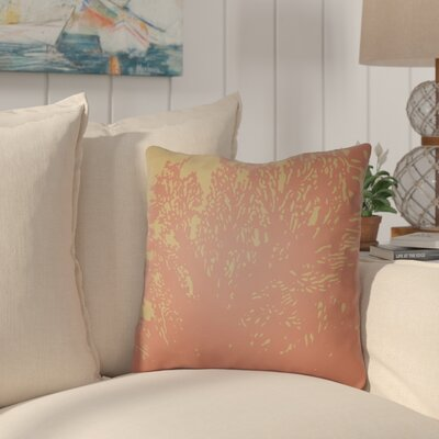 Broadbent Square Throw Pillow Size: 22 H �x 22 W x 5 D, Color: Coral