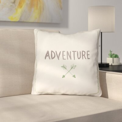 Square Shaped Accent Indoor/Outdoor Throw Pillow Size: 18 H x 18 W x 4 D, Color: White/Green