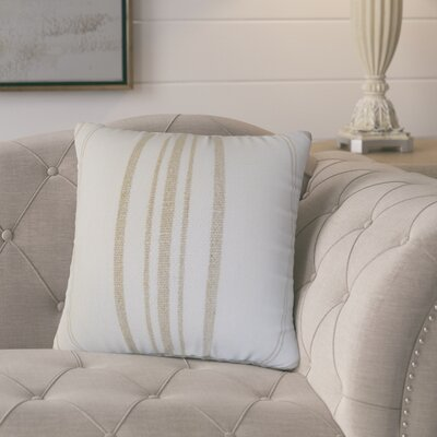 Polster Stripes Throw Pillow Color: Tan