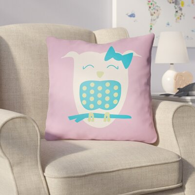 Colinda Owl Throw Pillow Size: 18 H x 18 W x 4 D, Color: Pink