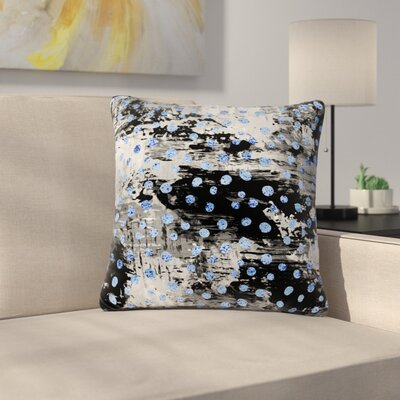 Vasare Nar Moon Polka Dot Art Deco Abstract Outdoor Throw Pillow Size: 18 H x 18 W x 5 D