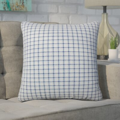 Wojcik Plaid Cotton Throw Pillow Color: Blue