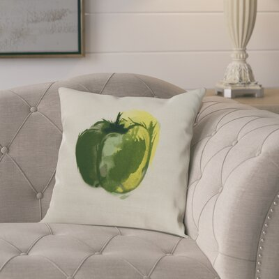 Laymon Pepper Throw Pillow Color: Green, Size: 18 x 18
