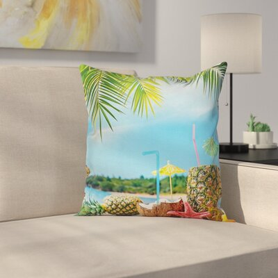 Modern Beach Square Pillow Cover Size: 16