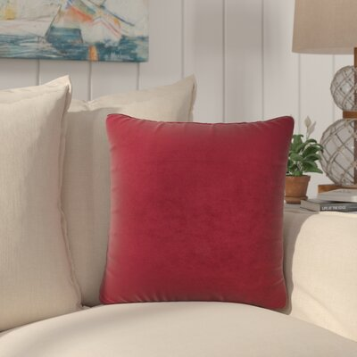 Dugan Soft Suede Throw Pillows Color: Wine