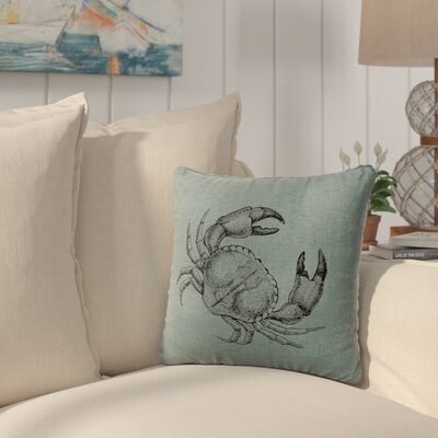 Truman Crab Throw Pillow Color: Ocean