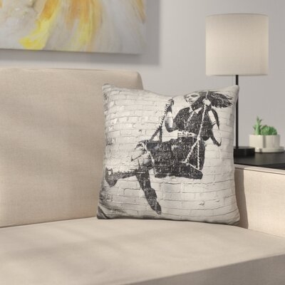 Girl on a Swing Throw Pillow