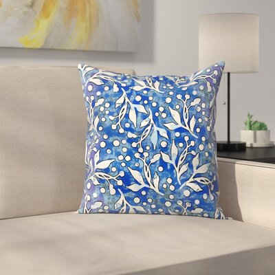 Pattern Wc Blau Throw Pillow Size: 14 x 14