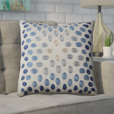 Hill Poly Slub Throw Pillow Color: Gray and Blue