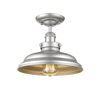Durrah Industrial 1-Light Semi Flush Mount