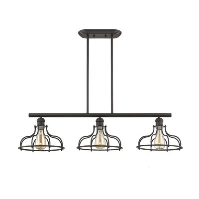 Gingrich Industrial 3-Light Kitchen Island Pendant