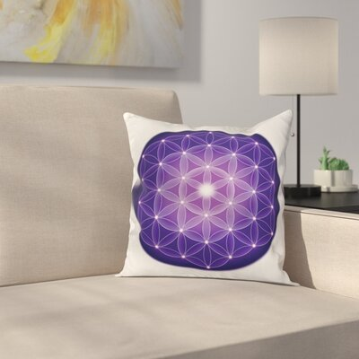 Bright Flower of Life Square Pillow Cover Size: 18 x 18