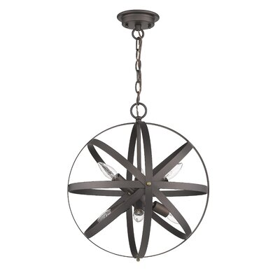 Bouvet Industrial 6-Light Globe Pendant