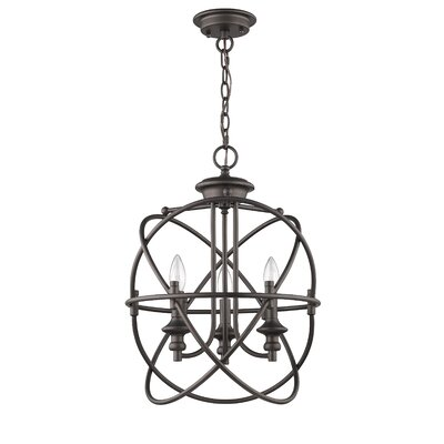 Bouvet Industrial 3-Light Mini Chandelier