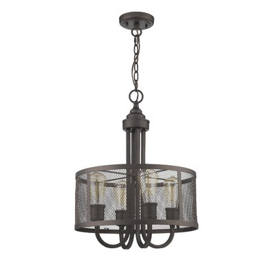 Bouvet Industrial 4-Light Drum Pendant