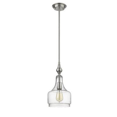 Dunson Transitional 1-Light Mini Pendant Fixture Finish: Brushed Nickel
