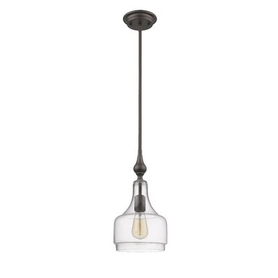 Dunson Transitional 1-Light Mini Pendant Fixture Finish: Rubbed Bronze