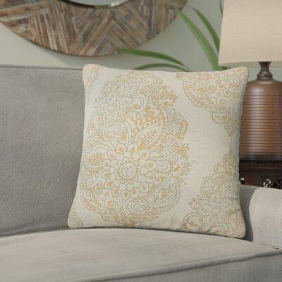 Sealey Damask Cotton Throw Pillow Color: Orange