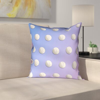 Volleyball Double Sided Print Pillow Cover Size: 18 x 18, Color: Blue/Purple
