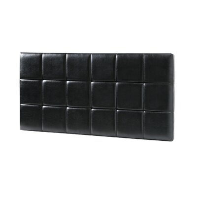 Renwick Upholstered Panel Headboard Upholstery: Black, Size: Full