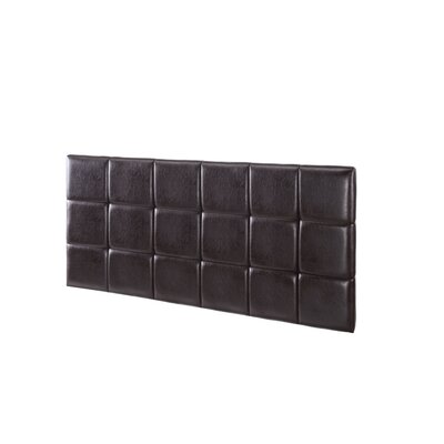 Renwick Upholstered Panel Headboard Upholstery: Brown, Size: Twin