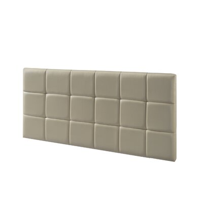 Renwick Upholstered Panel Headboard Upholstery: Taupe, Size: Full