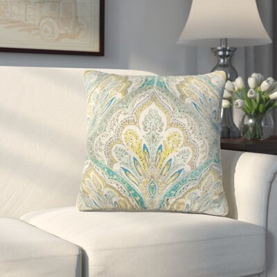 Whittaker Paisley Cotton Throw Pillow Color: Caribbean