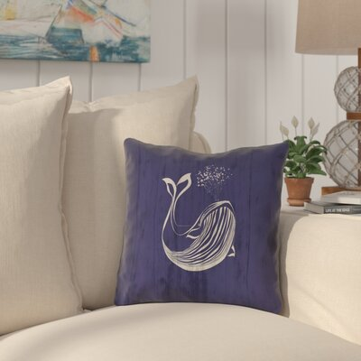 Lauryn Whale Square Throw Pillow Size: 18 x 18
