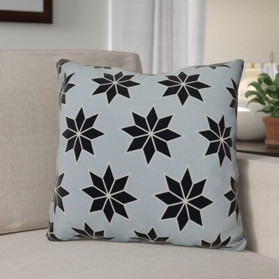 Christmas Decorative Holiday Geometric Print Outdoor Throw Pillow Size: 18 H x 18 W, Color: Light Blue
